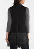 Lace Trim Knit Vest alternate view