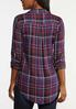 Plus Size Bling Plaid Top alternate view