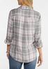 Plus Size Blush Plaid Shirt alternate view