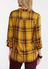 Plus Size Golden Plaid Shirt alternate view