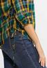 Plus Size Side Tie Plaid Top alt view