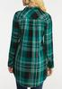 Plus Size Plaid Tunic Top alternate view