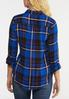 Plus Size Plaid Twist Top alternate view
