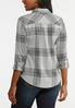 Plus Size Brushed Plaid Top alternate view