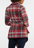 Plus Size Plaid Belted Jacket alternate view