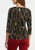 Plus Size Pleated Chain Print Top alternate view