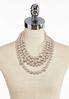 Layered Metallic Bead Necklace alternate view