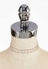 Cutout Rhinestone Choker Necklace alternate view