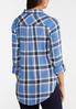 Plus Size Sky Blue Plaid Shirt alternate view