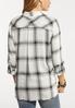 Plus Size Plaid Raw Edge Shirt alternate view