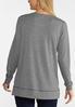 Plus Size Plaid Joy Sweatshirt alternate view