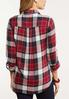 Plus Size Plaid Tie Front Shirt alternate view