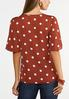 Plus Size Button And Dots Top alternate view
