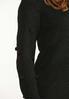 Black Pom Sleeve Sweater alt view