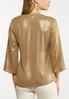 Plus Size Shimmery Gold Faux Wrap Top alternate view