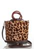 Leopard Faux Fur Bucket Bag alternate view