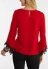 Plus Size Lace Bell Sleeve Top alternate view
