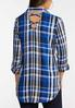 Plus Size Royal Plaid Shirt alternate view