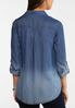 Plus Size Faded Chambray Shirt alternate view