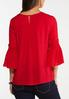 Plus Size Lacy Smocked Poet Top alternate view