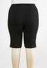 Plus Size Black Stretch Shorts alternate view
