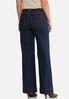 Petite Wide Leg Belted Jeans alternate view