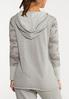 Plus Size Gray Camo Hoodie alternate view