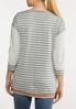 Plus Size Shimmer And Stripe Sweatshirt alternate view