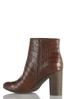 Wide Width Croc Textured Ankle Boots alternate view