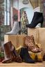 Wide Width Croc Textured Ankle Boots alt view