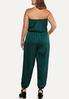 Plus Size Satiny Green Jumpsuit alternate view