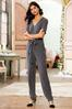 Ribbed Elbow Sleeve Jumpsuit alt view