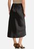Plus Size Satin Slip Midi Skirt alternate view
