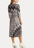 Plus Size Silky Chevron Dress alternate view