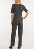 Plus Size Ribbed Elbow Sleeve Jumpsuit alternate view