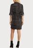 Plus Size Snakeskin Print Shirt Dress alternate view