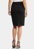 Plus Size Black Denim Skirt alternate view
