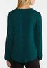 Plus Size Green Button Tie Front Top alternate view