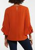 Plus Size Rust Ruffled Top alternate view