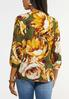 Plus Size Floral Ring Top alternate view
