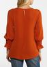 Plus Size Rust Smocked Sleeve Top alternate view