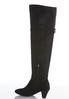 Wide Width Over The Knee Heeled Boots alternate view