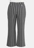 Plus Size Modern Stripe Wide Leg Pants alternate view