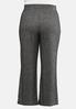 Plus Size Tie Front Hacci Pants alternate view
