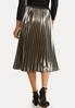 Metallic Pleated Party Skirt alternate view