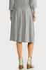 Plus Size Gray Cable Knit Skirt alternate view
