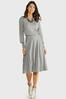 Plus Size Gray Cable Knit Skirt alt view
