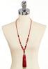 Fabric Tassel Pendant Necklace alternate view