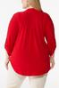 Plus Size Solid Scrunch Sleeve Top alternate view
