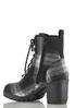 Wide Width Plaid Lug Heeled Boots alternate view